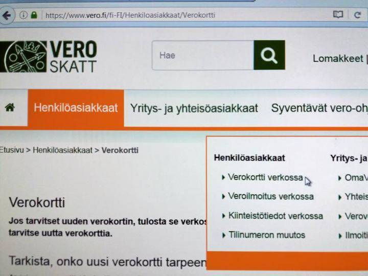 Verokortti Netissä