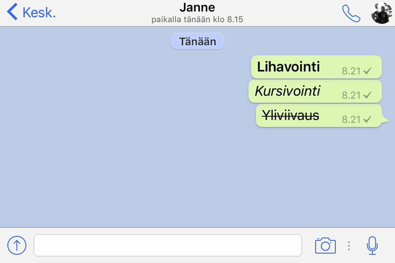 Whatsapp Lihavointi