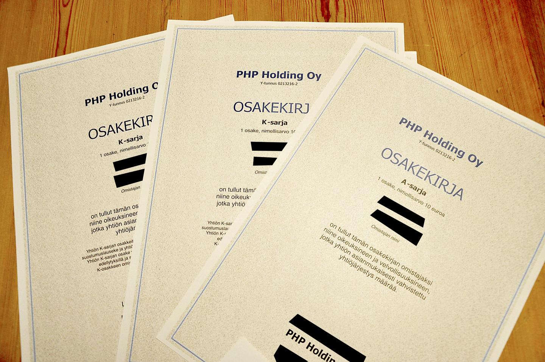 Php Holding Osinko 2021 Maksupäivä